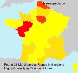 Surname Marsil in France