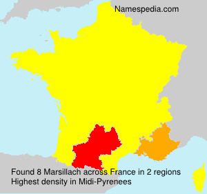 Surname Marsillach in France