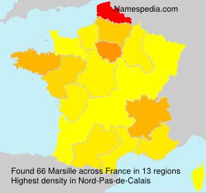 Surname Marsille in France