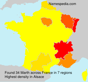 Surname Marth in France