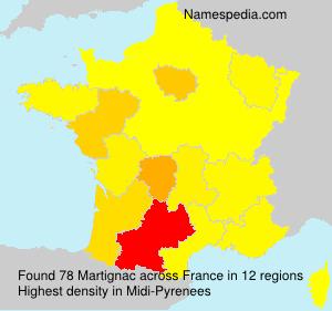 Surname Martignac in France