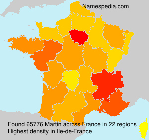 Surname Martin in France
