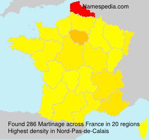 Familiennamen Martinage - France