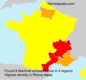 Surname Martinell in France