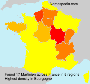 Surname Martinien in France
