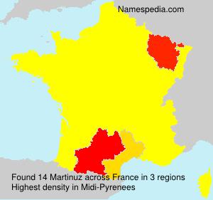 Familiennamen Martinuz - France