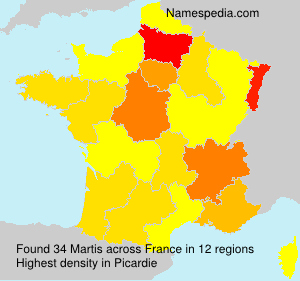 Surname Martis in France