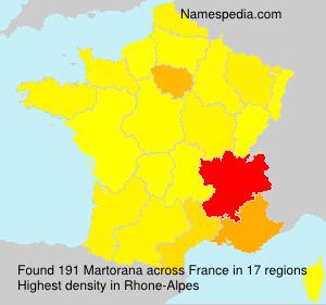 Surname Martorana in France