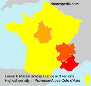 Surname Marzel in France