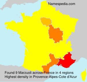 Surname Marzuoli in France