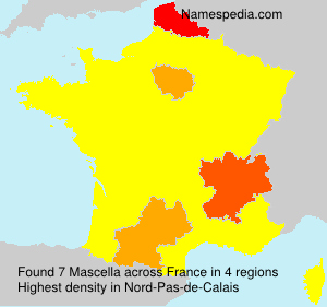 Surname Mascella in France