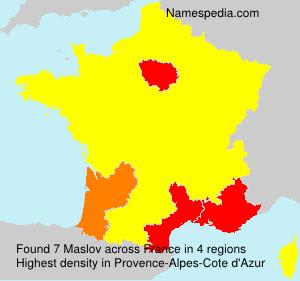 Surname Maslov in France