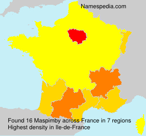 Surname Maspimby in France