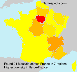 Surname Massala in France