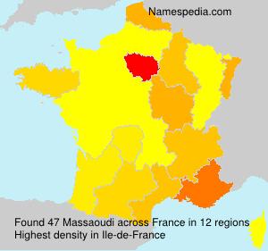 Familiennamen Massaoudi - France