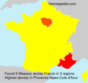 Surname Massary in France