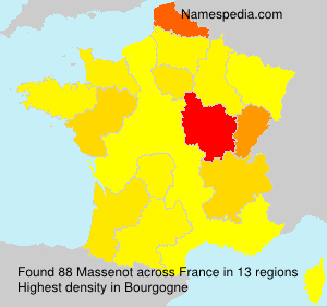 Surname Massenot in France