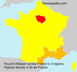 Familiennamen Masser - France
