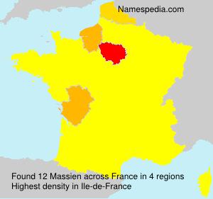 Surname Massien in France