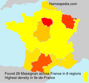 Surname Massignan in France