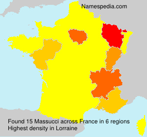 Surname Massucci in France