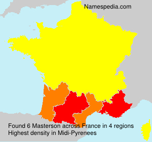 Surname Masterson in France