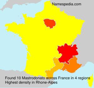 Surname Mastrodonato in France