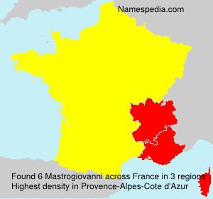 Surname Mastrogiovanni in France
