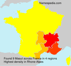 Surname Masut in France
