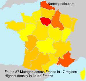 Surname Matagne in France