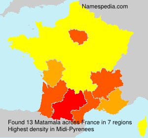 Surname Matamala in France