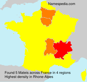 Surname Mateis in France