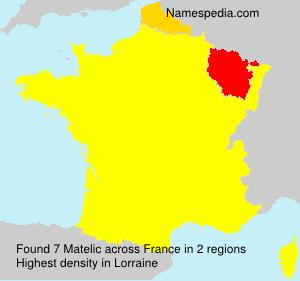 Surname Matelic in France