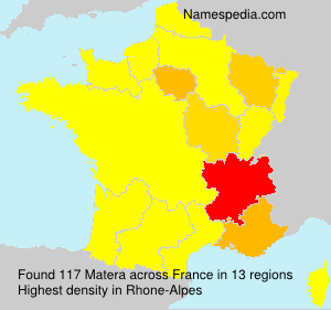 Surname Matera in France