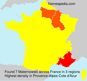 Surname Maternowski in France