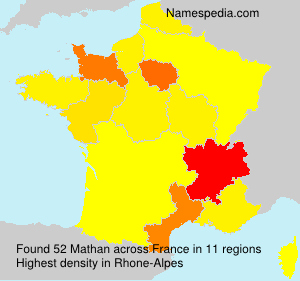 Surname Mathan in France