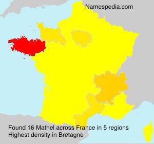 Surname Mathel in France