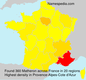 Surname Matheron in France