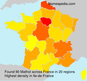 Surname Mathot in France