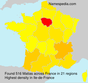Surname Matias in France