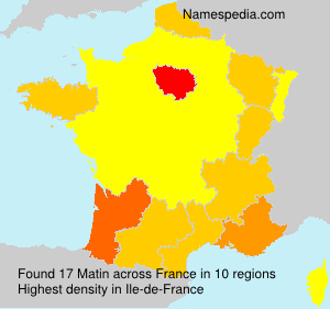 Surname Matin in France