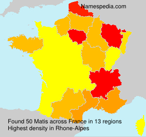 Surname Matis in France