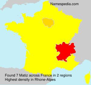 Surname Matiz in France