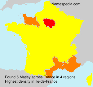 Surname Matley in France