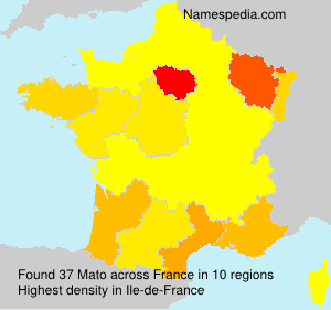 Surname Mato in France