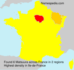 Surname Matsuura in France