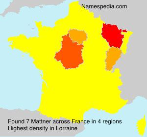 Surname Mattner in France