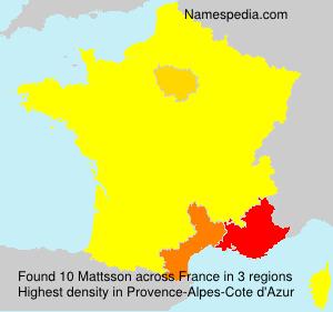 Familiennamen Mattsson - France