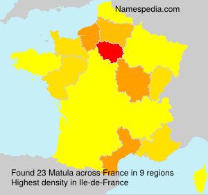 Surname Matula in France