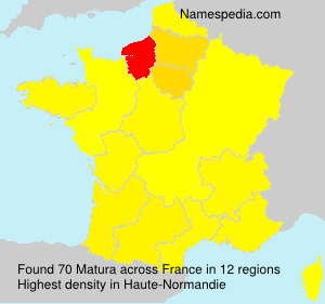 Surname Matura in France